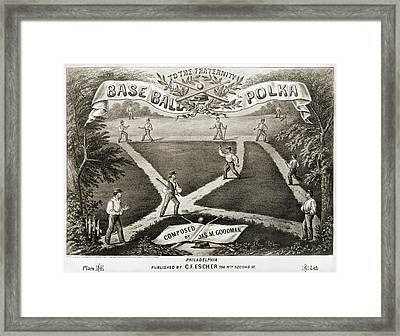 Baseball Polka, 1867 Framed Print by Granger