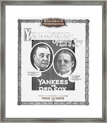 Baseball Program, 1923 Framed Print by Granger