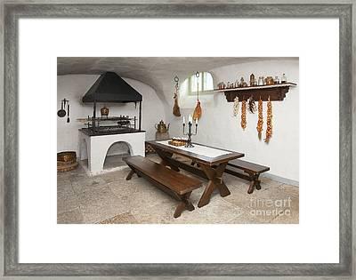 Basement Kitchen Framed Print