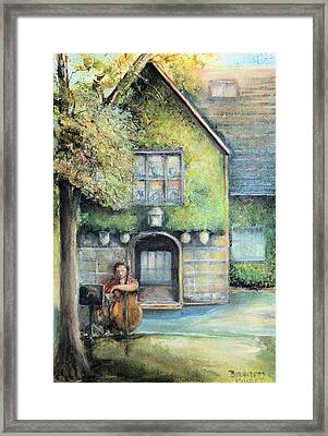 Framed Print featuring the painting Bass Fiddle At Ford Gala I by Bernadette Krupa