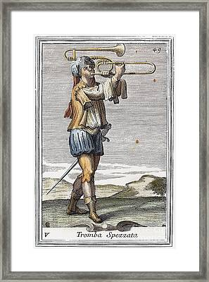 Bass Trombone, 1723 Framed Print
