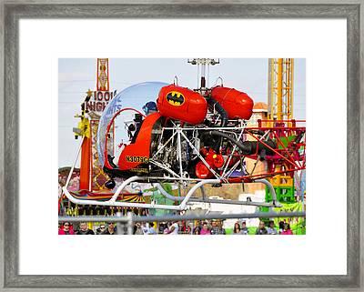 Batcopter Framed Print