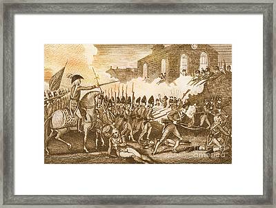 Battle Of Concord, 1775 Framed Print by Photo Researchers