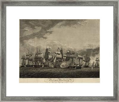 Battle Of Lake Erie. American Framed Print by Everett