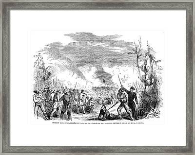 Battle Of Quarisma, 1857 Framed Print