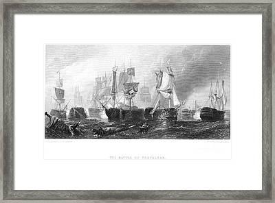Battle Of Trafalgar, 1805 Framed Print