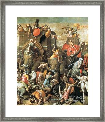 Battle Of Zama Hannibals Defeat Framed Print by Photo Researchers