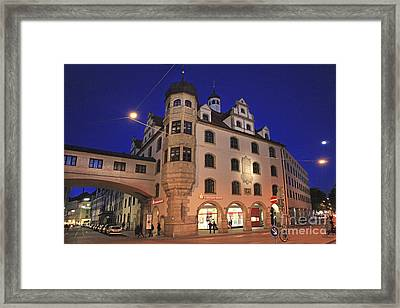 Bavaria Munich At Night  Framed Print