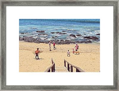 Beach Live Framed Print by Benjamin Matthijs