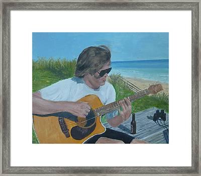 Beach Music Framed Print by John Terry
