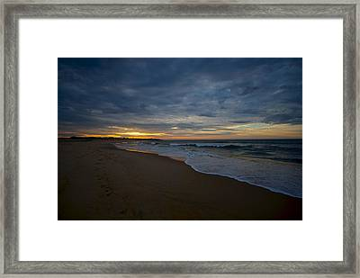 Beach Sunrise Framed Print by Mike Horvath