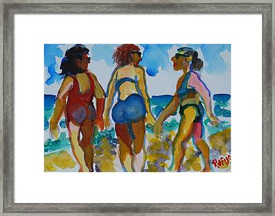 Beach Trio Framed Print