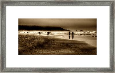 Beach Walkers Framed Print by David Patterson