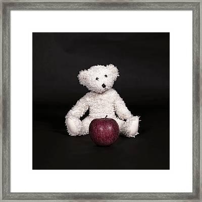 Bear And Apple Framed Print by Joana Kruse