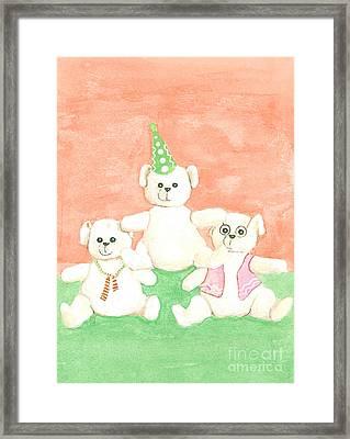 Framed Print featuring the drawing Bear Pyramid by Nareeta Martin