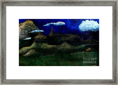 Framed Print featuring the painting Beaute Du Montagnes by Ayasha Loya