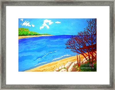 Beautiful Blue Lake Framed Print