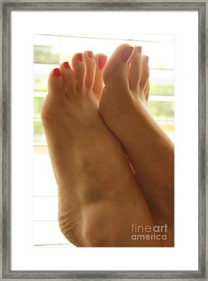 Beautiful Feet Framed Print by Tos Photos