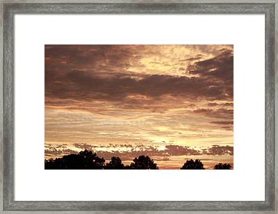 Framed Print featuring the photograph Beautiful Sunset by Ann Murphy