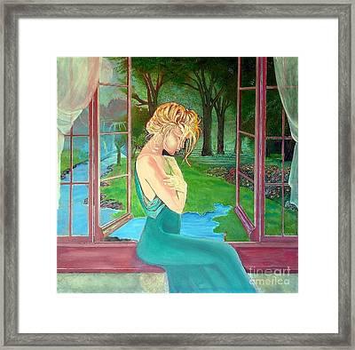 Beautiful Woman Framed Print by Kostas Dendrinos