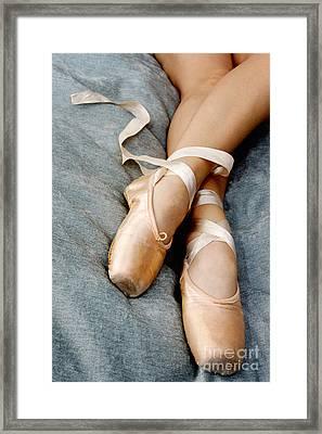 Beauty Is The Pointe Framed Print by Kim Fearheiley