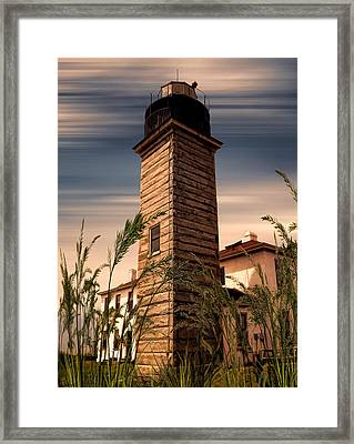 Beavertail Lighthouse Framed Print by Lourry Legarde