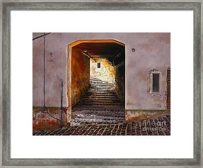 Beckoning Light Framed Print by Lynette Cook