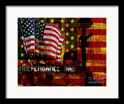 American Independance Mixed Media Framed Prints