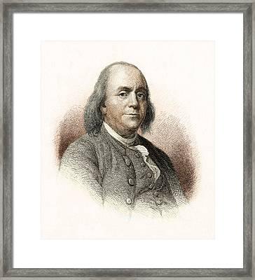 Benjamin Franklin Framed Print by Nypl