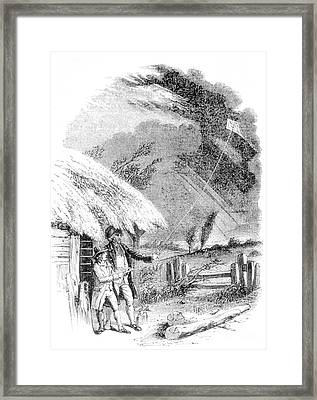 Benjamin Franklin, Electricty Framed Print