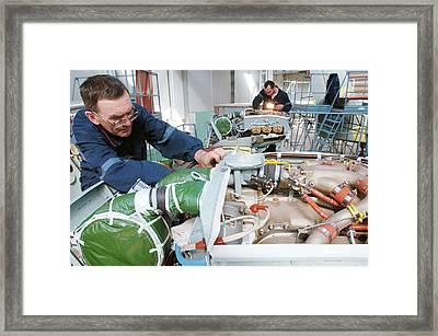 Beriev Be-103 Seaplane Assembly Framed Print by Ria Novosti