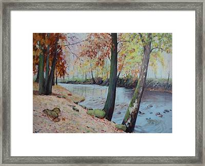 Beside The Still Waters Framed Print