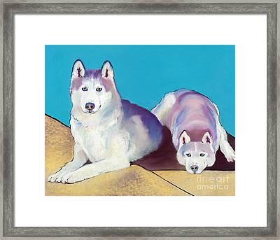 Best Buddies Framed Print by Pat Saunders-White