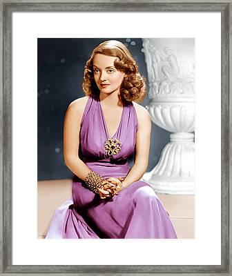 Bette Davis, Ca. 1940s Framed Print by Everett