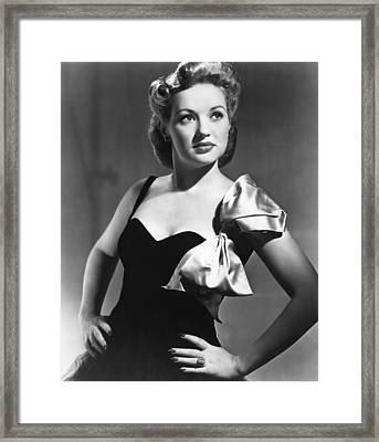 Betty Grable, Circa 1940s Framed Print by Everett