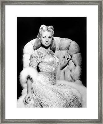 Betty Grable Framed Print by Everett