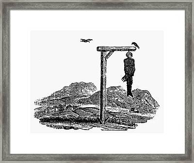 Bewick: Hanged Man Framed Print by Granger