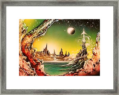 Beyond Earth Framed Print by Tony Vegas