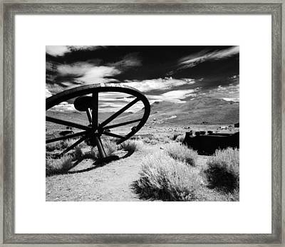 Big Wheel Bodie Framed Print by Jan W Faul