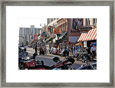 Bikes On Beale Framed Print by Dawn Davis