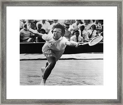 Billie Jean King (1943- ) Framed Print by Granger