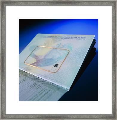 Biometric Passport Chip Framed Print