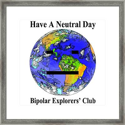 Bipolar Explorers' Club Framed Print by Gregory Scott