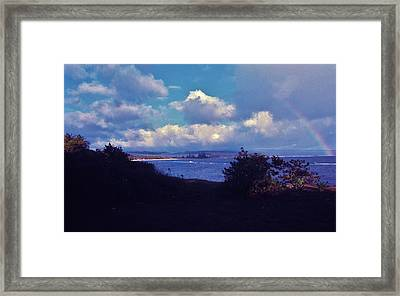 Framed Print featuring the photograph Birth Of A Rainbow by Craig Wood