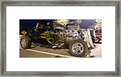 Black Hot Rod Big Engine Framed Print by Pictures HDR