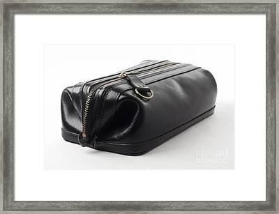 Black Leather Bag Framed Print