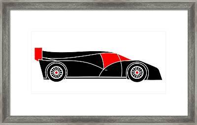 Black Rocket Racing Car Virtual Car Framed Print by Asbjorn Lonvig