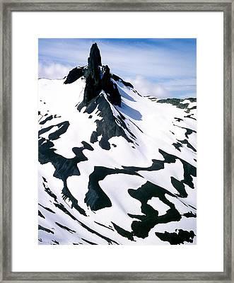 Black Tusk Framed Print by John  Bartosik