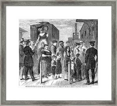 Blackwells Island, 1868 Framed Print