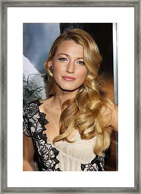 Blake Lively At Arrivals For Where The Framed Print by Everett